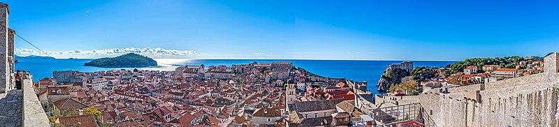 Panorama af Old town Dubrovnik