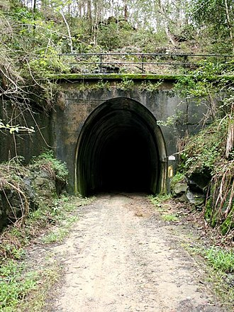 Dularcha Railway Tunnel - Southern end of the Dularcha Railway Tunnel, 2009