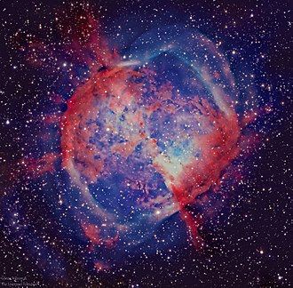 Dumbbell Nebula - Visual light (HaRGB) image of the Dumbbell Nebula (Messier 27, M 27) by the Liverpool Telescope
