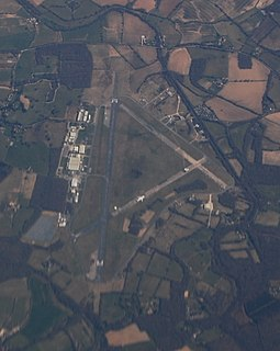 Dunsfold Aerodrome unlicensed airfield in Surrey, England; originally an air force base