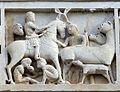 Duomo di massa marittima, esterno, episodi dlela vita di san cerbone, XIII secolo 04.jpg