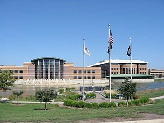 Wheaton, Illinois - Present day DuPage County government complex in Wheaton