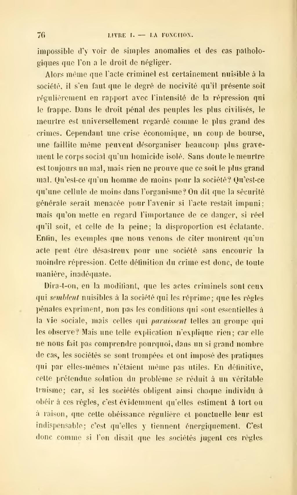 Page Durkheim De La Division Du Travail Social Djvu 98 Wikisource