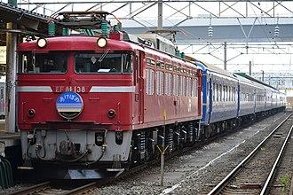 Akebono (train) - Image: EF81 138 Akebono Aomori 20110611