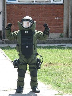 Kosovo Police bomb technician