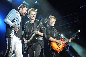 "Electric Chapel - Gaga channeled the vocals of bands like Duran Duran (pictured) on ""Electric Chapel"""
