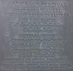 Photo of Archibald Percival slate plaque