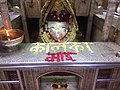 Early Morning Just before Aarti time Temple inside pic-3 with Goddess Maa Kalka Ji.jpg