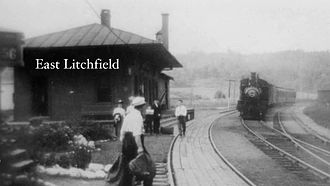 East Litchfield Village, Connecticut - In 1849 the Naugatuck Valley Railroad extended their rails to Winsted, Connecticut. A depot was built in East Litchfield. Passengers could ride all the way to New York City without changing trains.