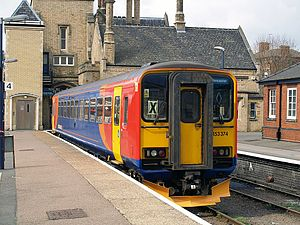 Nottingham–Lincoln line - A East Midlands Trains class 153 at Lincoln