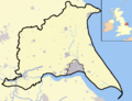 East Riding of Yorks outline map with UK.png