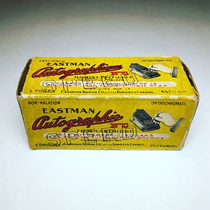Autographic film - Eastman Autographic Orthochromatic Speed Non-Curling Non-Halation Film (Expired: March 1st 1920)