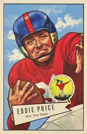 Eddie Price - Price on a 1952 Bowman football card