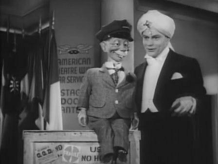 Edgar Bergen & Mortimer Snerd in Stage Door Canteen