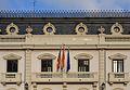 Edifici de l'Autoritat Portuària de València, balcó i mansardes.JPG