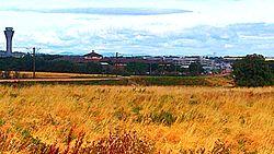 Edinburgh tram line to airport, 20 August 2014.jpg