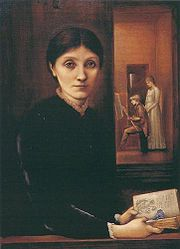 Portrait of Georgiana Burne-Jones, with Philip and Margaret, 1883