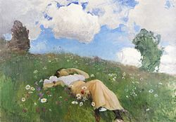 Eero Järnefelt - Saimi in the Meadow (1892).jpg
