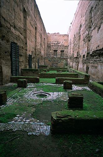 El Badi Palace - Forecourt of El Badi Palace