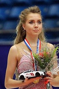 Elena Radionova at the Cup of China 2016 - Awarding ceremony 01.jpg