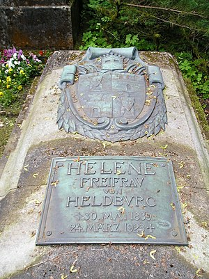 Ellen Franz - Tombstone of Freifrau Helene of Heldburg at Meininger Park Churchyard.