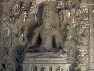 Rashtrakuta dynasty - Shiva sculpture in Kailasanath Temple, Ellora Caves