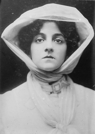 Elsie Janis - Elsie Janis, 17 years old, in The Vanderbilt Cup 1906. She's dressed in early automobile attire. In the play, she drives a car on stage