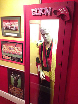 Watford Museum - A Watford FC-inspired stage costume worn by Elton John