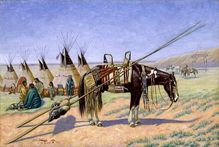 Indians in Camp at 101 Ranch