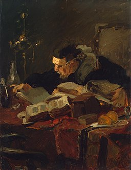 Emile Wauters - Scholar at the table