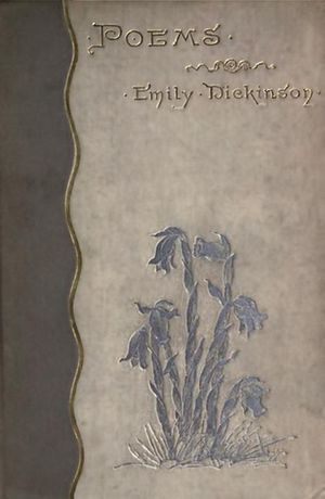 1890 in poetry - Cover of the first edition of Poems by Emily Dickinson, published this year