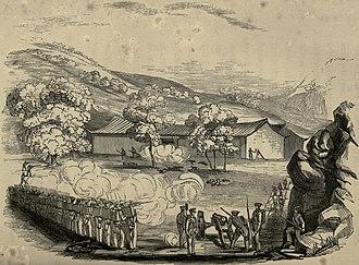 Battle of Chapu - Image: Engagement at joss house