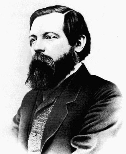 Friedrich Engels, who identified religion as a person's need for a fantastic spiritual reflection of the self, by which to have some control over life and reality