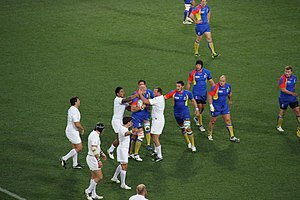 Romania at the Rugby World Cup - Image: England vs Romania 2011 RWC (4)