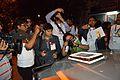 English Wikipedia 14th Anniversary Cake Study - Bengali Wikipedia 10th Anniversary Celebration - Jadavpur University - Kolkata 2015-01-10 3547.JPG