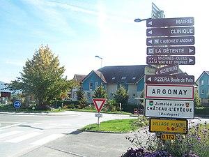 Argonay - The main road into Argonay