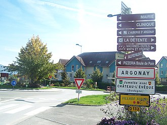 Argonay - The main road into Argonay