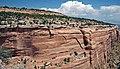 Entrada Sandstone over Kayenta Formation over Wingate Sandstone (Jurassic; Red Canyon, Colorado National Monument, Colorado, USA) 1 (23363863244).jpg