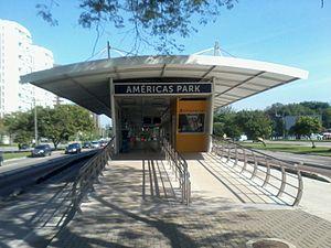 0ab1b6e9b Estação Américas Park – Wikipédia, a enciclopédia livre