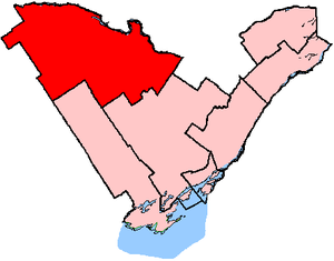 Renfrew—Nipissing—Pembroke - Renfrew—Nipissing—Pembroke shown within the Eastern Ontario region (2003 boundaries)