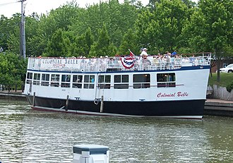 Fairport, New York - The Colonial Belle, a canal tour boat.