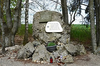 Erwin Rommel Memorial, place of his suicide with a cyanide pill, Herrlingen (2019) Erwin Rommel Memorial, place of suicide, Herrlingen (2019).jpg