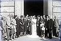 Esküvői csoportkép, 1946 Budapest. . Fortepan 104688.jpg