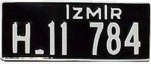 Vehicle registration plates of Turkey