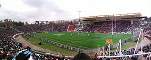 Estadio Malvinas Argentinas - 2012 match between ''Los Pumas'' and South Africa.