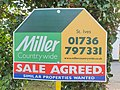 Estate agent sign, Trenwith Lane, St Ives, March 2021.jpg