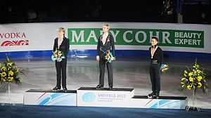 European Figure Skating Championships - The 2012 medalists in the men's event