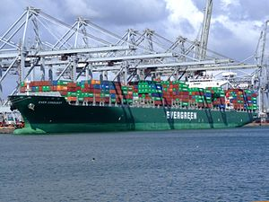 Ever Conquest p2, at the Amazone harbour, Port of Rotterdam, Holland 29-Jul-2007.jpg