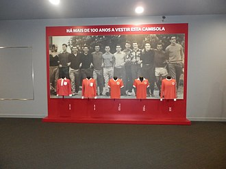 S.L. Benfica - Evolution of Benfica's shirt from 1904 until the 1970s