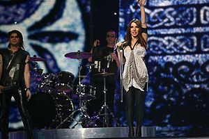 Cyprus in the Eurovision Song Contest - Image: Evridiki 2007 Eurovision